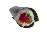 salmon roe hand roll sushi poster