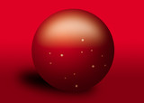 red crystal ball with stars poster