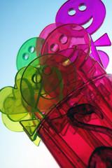 colorful stirrers