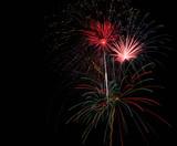 bright beautiful fireworks poster
