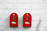 red post boxes poster