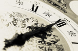 clock - midnight time poster