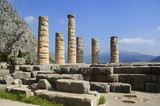 ruins of the temple of apollo, delphi, greece