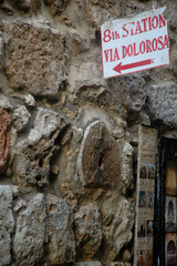 8th station - via dolorosa