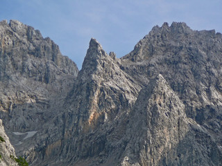 mountain peak in the bavarian alps