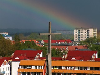 cross with rainbow 2
