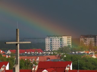 cross with rainbow 4