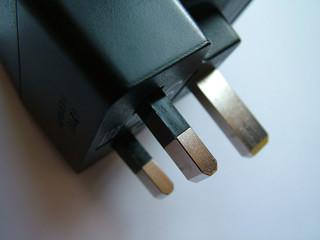 close up of electrical plug