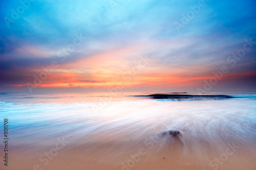 In de dag Strand sunset landscape