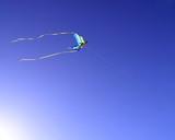 kite flying in the sky poster
