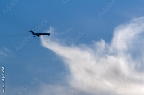 air liner and cloud