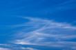 inversion trace in blue sky