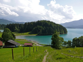 lake walchensee in the bavarian alps