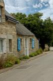 maison bretonne et route poster