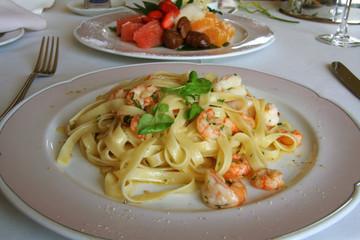 Big shrimp pasta