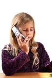 enfant téléphone portable poster