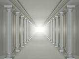 columns corridor (angle 2) poster