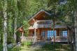 Leinwandbild Motiv summer cottage