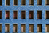 blue block windows poster