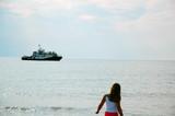 girl waiting for ship poster