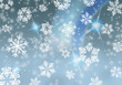 vintage snowflakes postcard / background