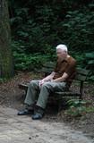 depressed old man poster