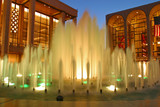 fountains outside the lincoln center, new york poster