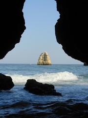 grotto and sea