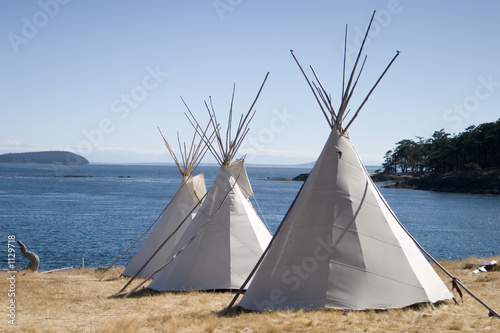 In de dag Indiërs three teepees