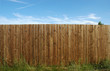 Leinwanddruck Bild - pine fence