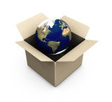 earth in a box poster