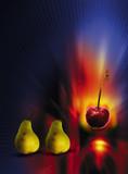 slot machine fruit poster