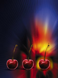 slot machine cherries poster