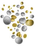 falling money poster