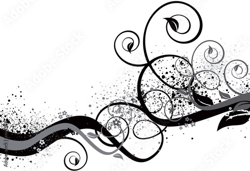 Leinwandbild Motiv black and white background illustration