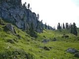 high alpine landscape near zugspitze poster