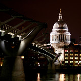 saint pauls at night