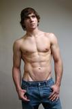 shirtless young man poster