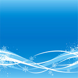 Fototapety blue winter background