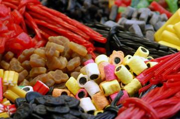 bonbons au marché