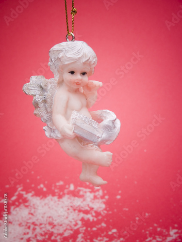 angel on red background