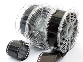 two spools of film
