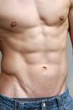 muscular torso poster