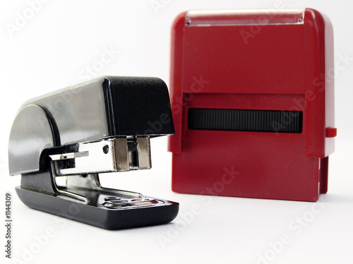 stapler  and stamp
