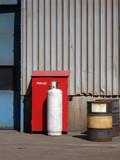 industrial propane tank poster