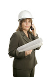 confident female architect on cellphone poster