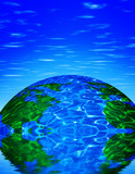 earth with reflection poster