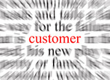 customer focused poster