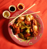 chinese food and chopsticks poster