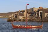 viking boat. poster